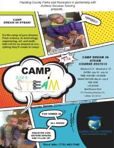 STEAM/STEM Camp Flyer for Achieve Success Tutoring