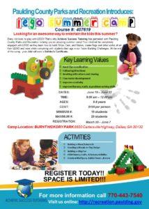 Lego Summer Camp Flyer ages 6-8 Dallas, GA